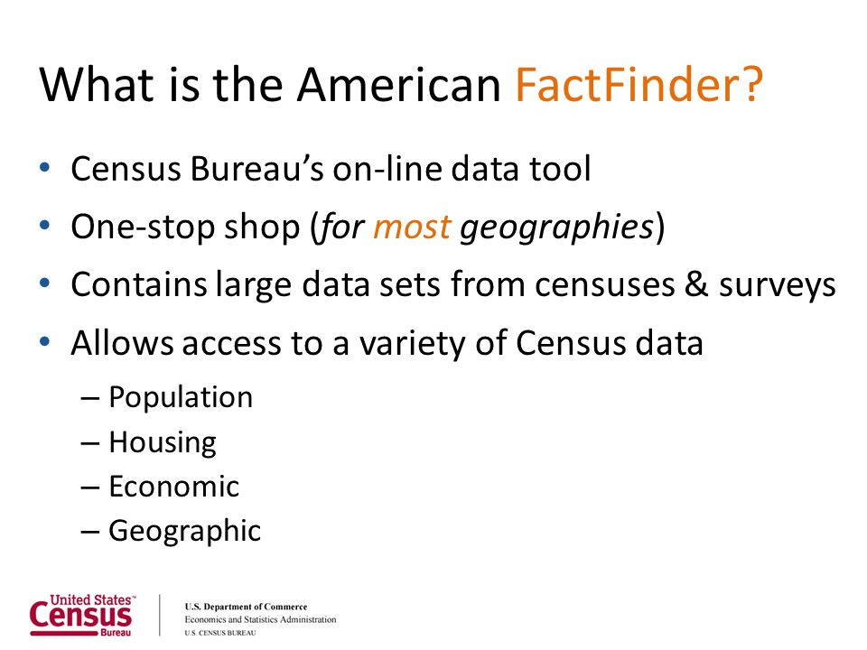 What is the American FactFinder