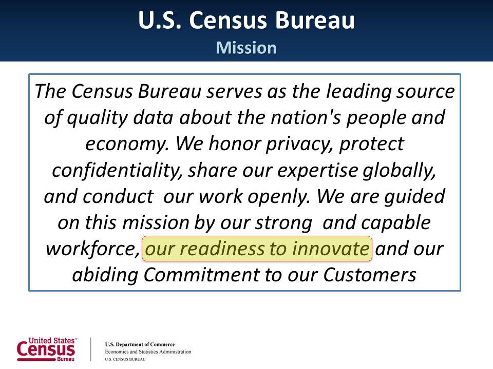 U.S. Census Bureau Mission