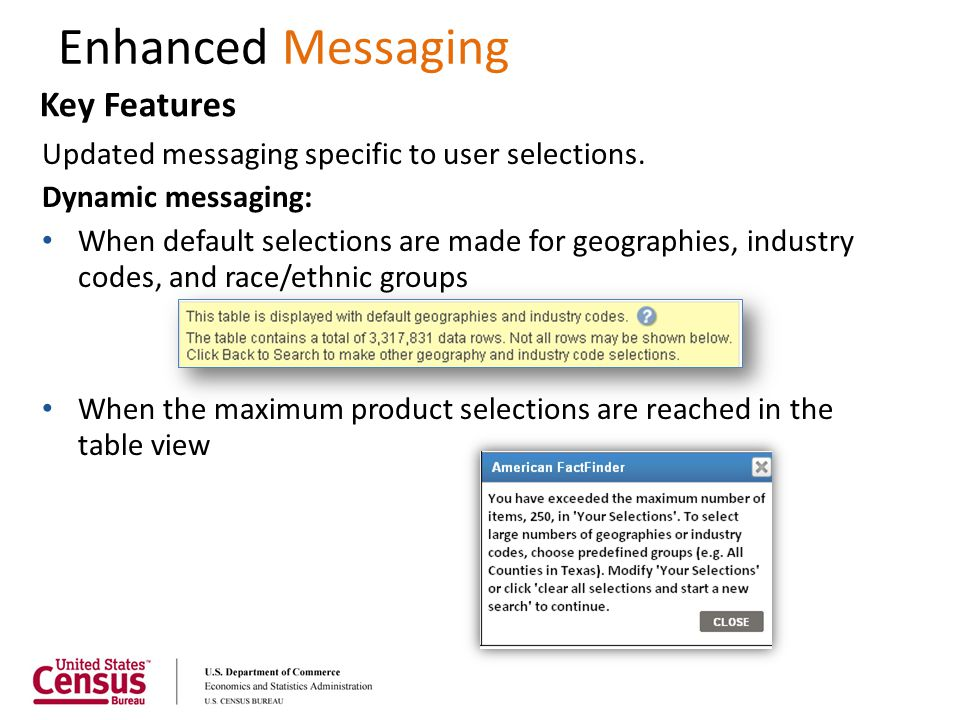 Enhanced Messaging Key Features
