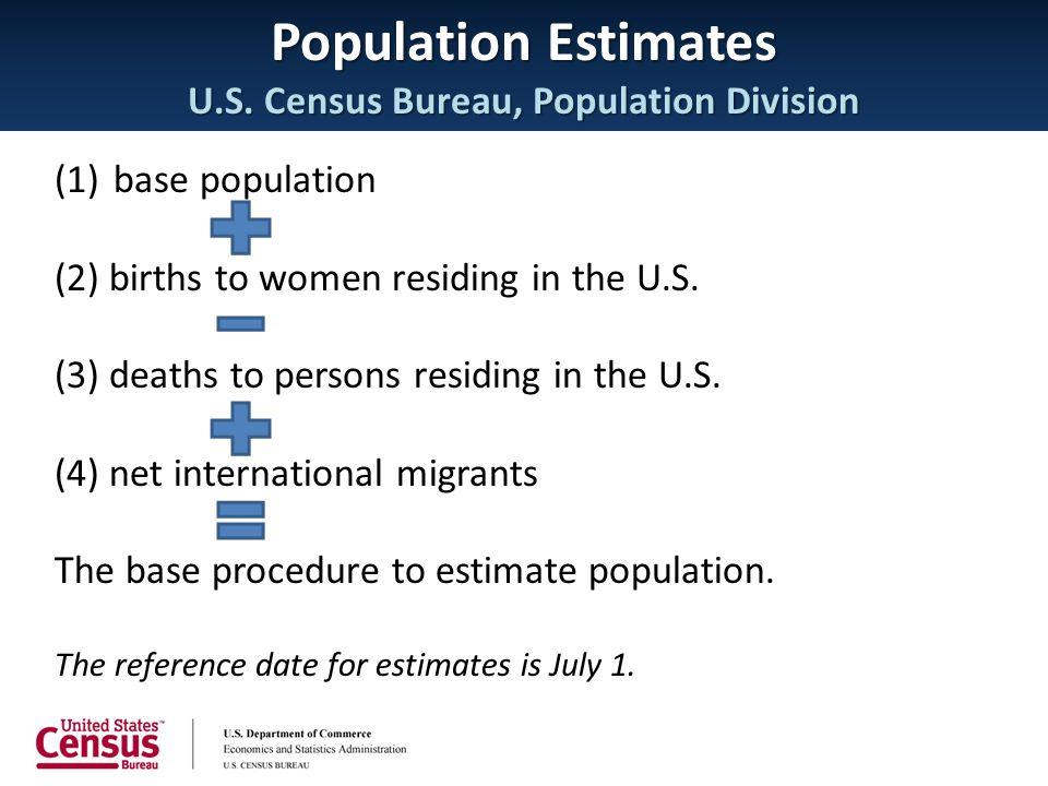 Population Estimates U.S. Census Bureau, Population Division