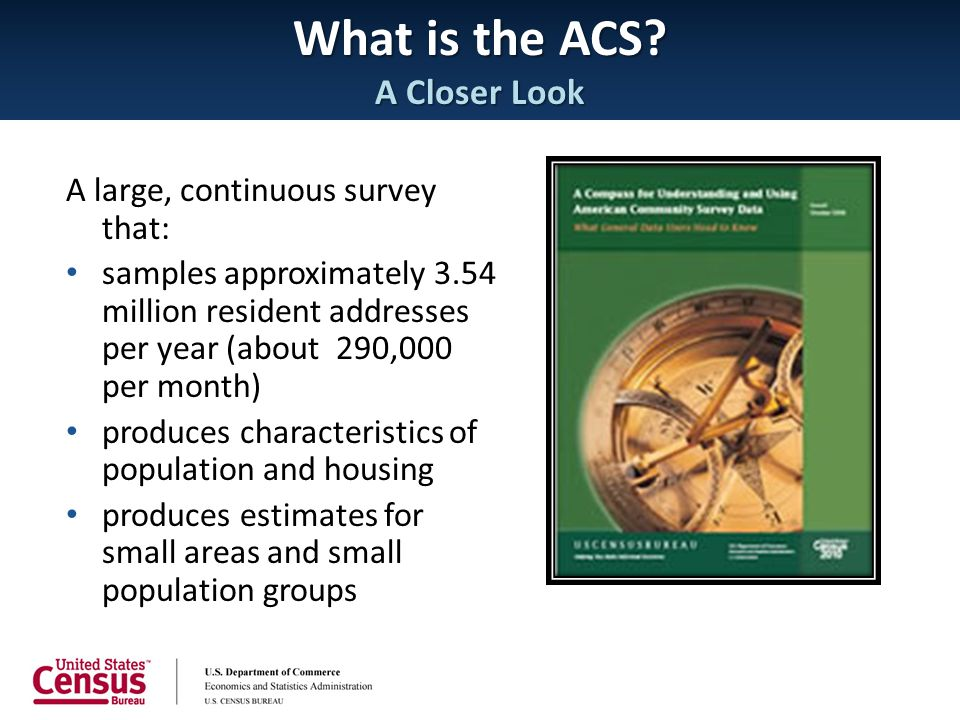 What is the ACS A Closer Look