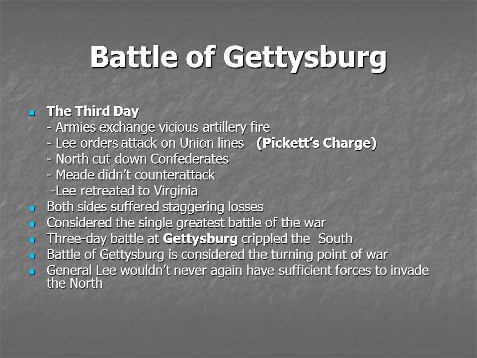 Battle of Gettysburg The Third Day