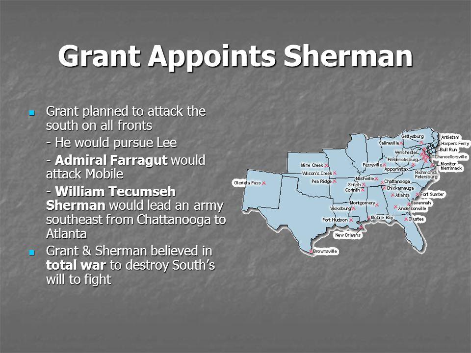 Grant Appoints Sherman