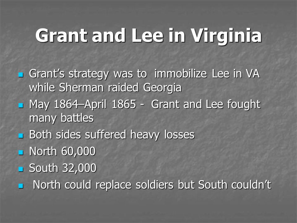 Grant and Lee in Virginia