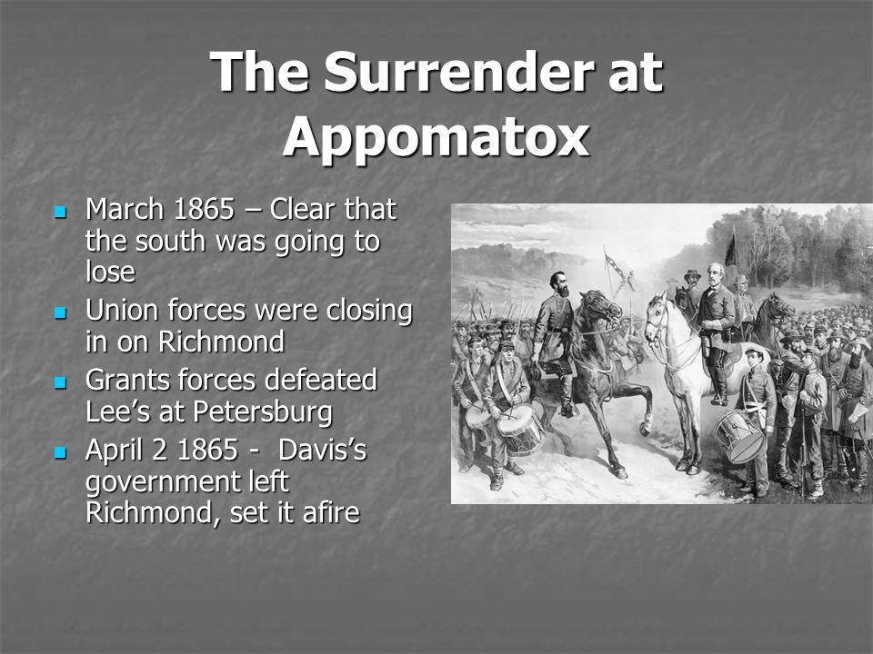 The Surrender at Appomatox
