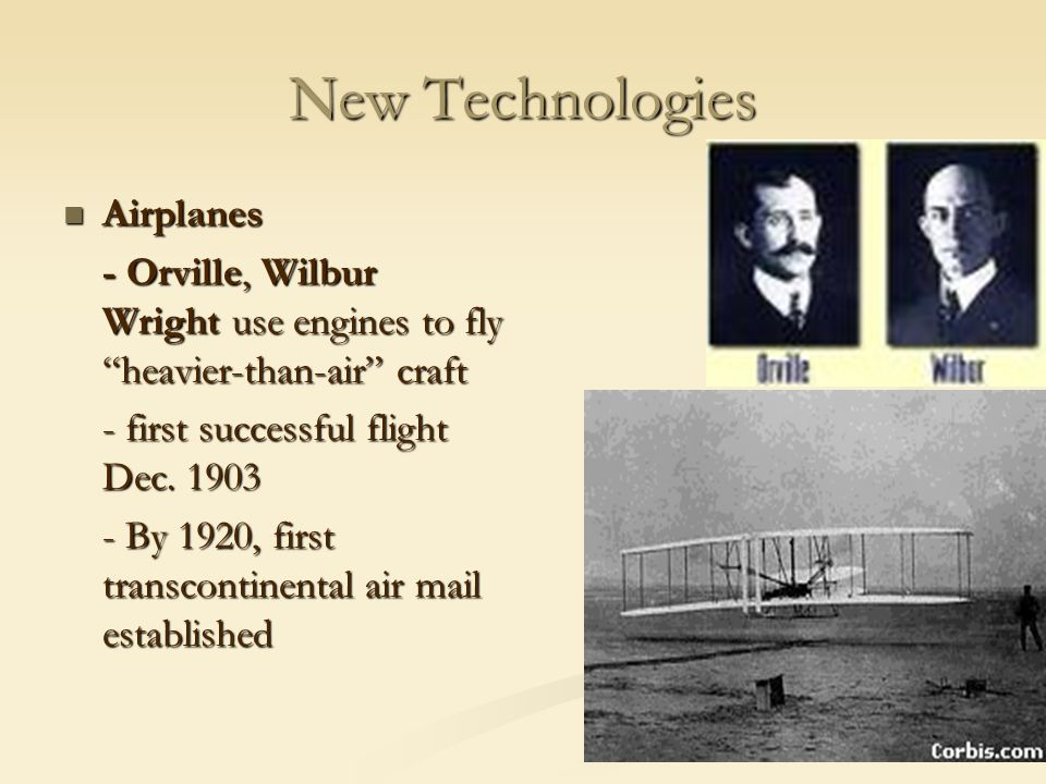 New Technologies Airplanes