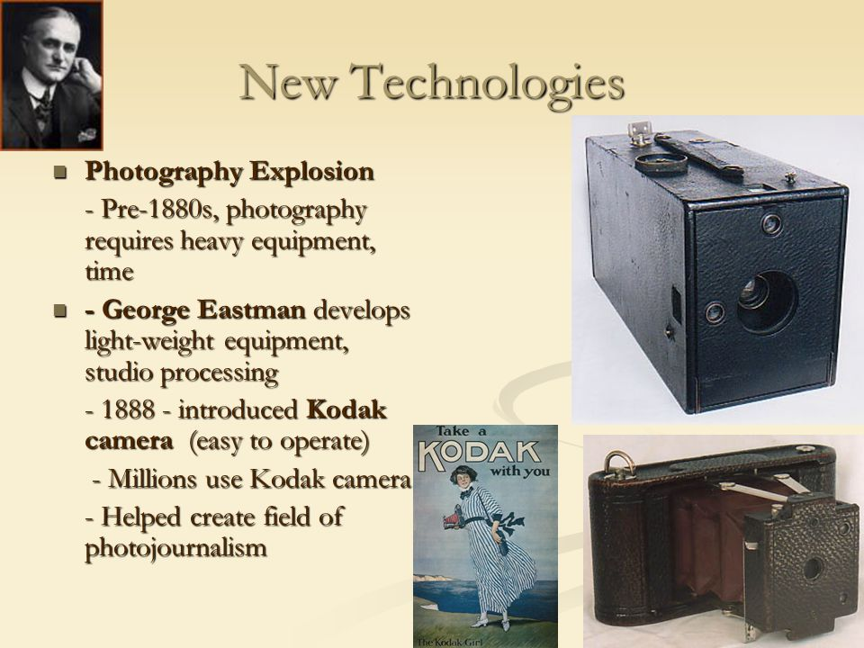 New Technologies Photography Explosion