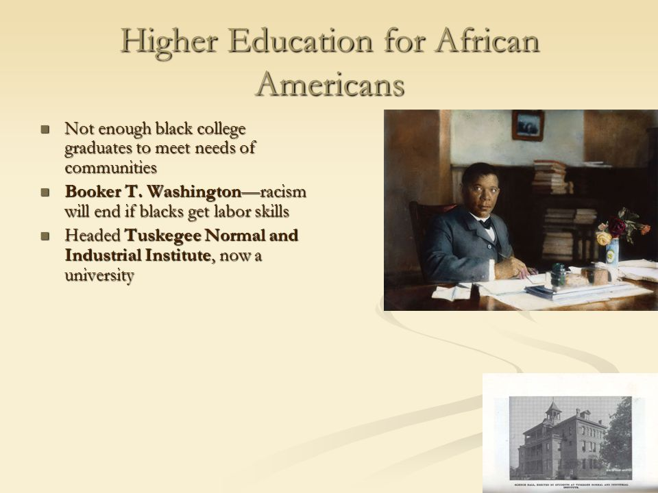 Higher Education for African Americans