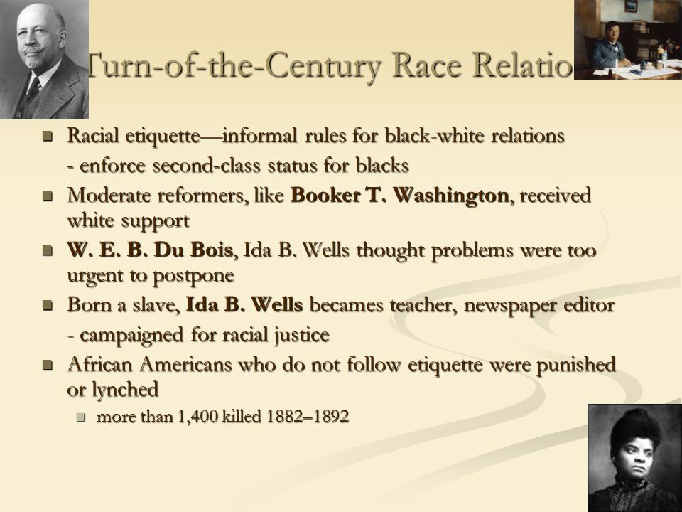 Turn-of-the-Century Race Relations