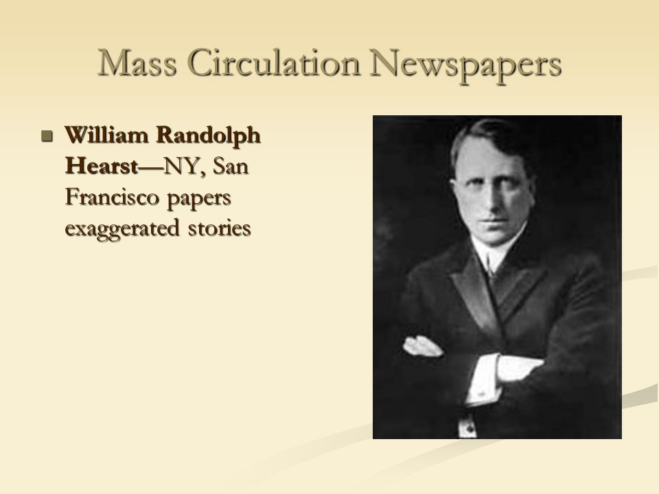 Mass Circulation Newspapers
