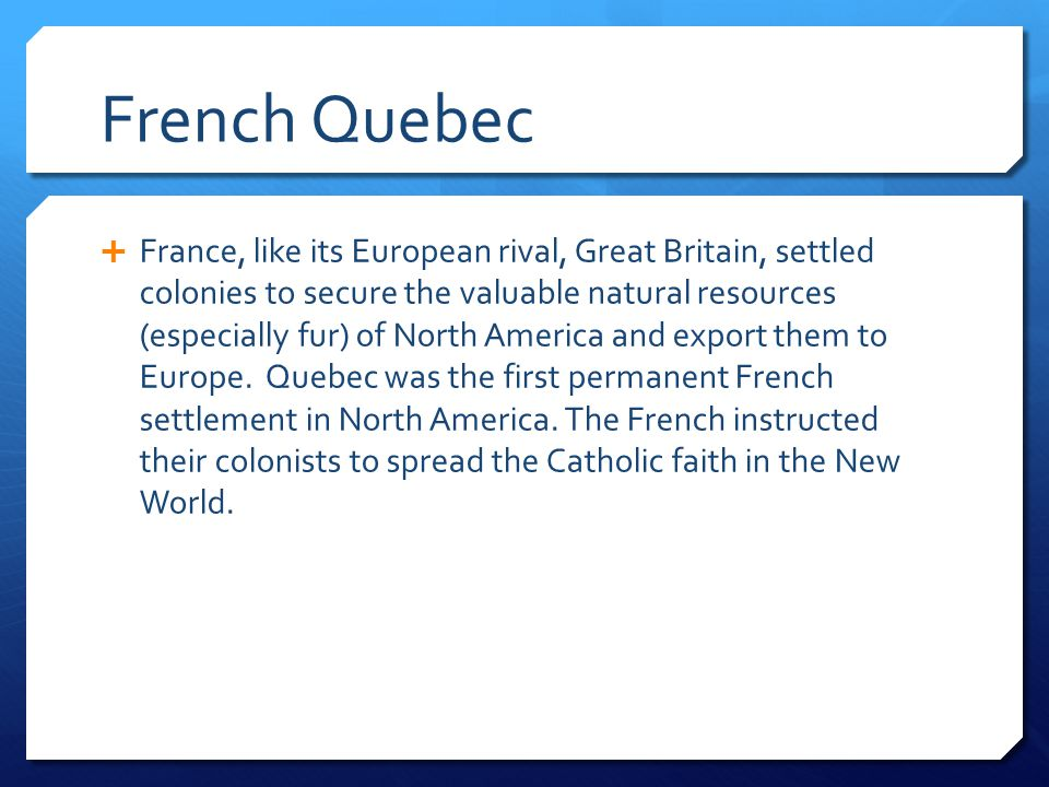 French Quebec
