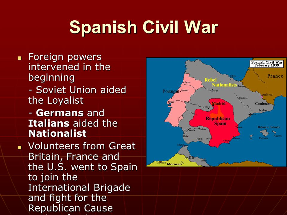 Spanish Civil War Foreign powers intervened in the beginning