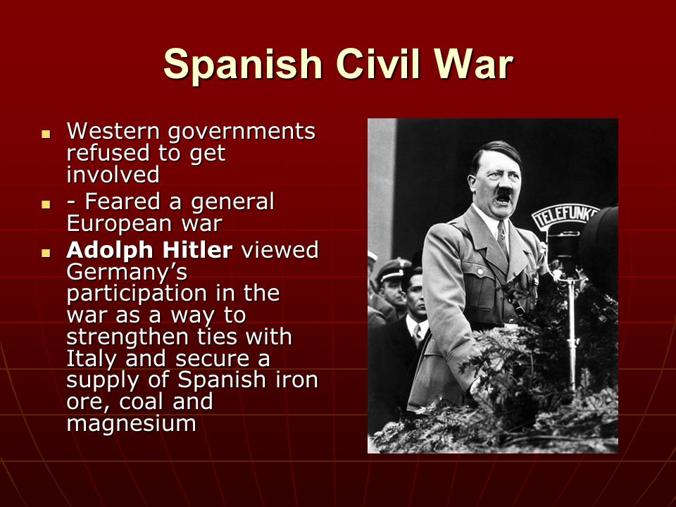 Spanish Civil War Western governments refused to get involved
