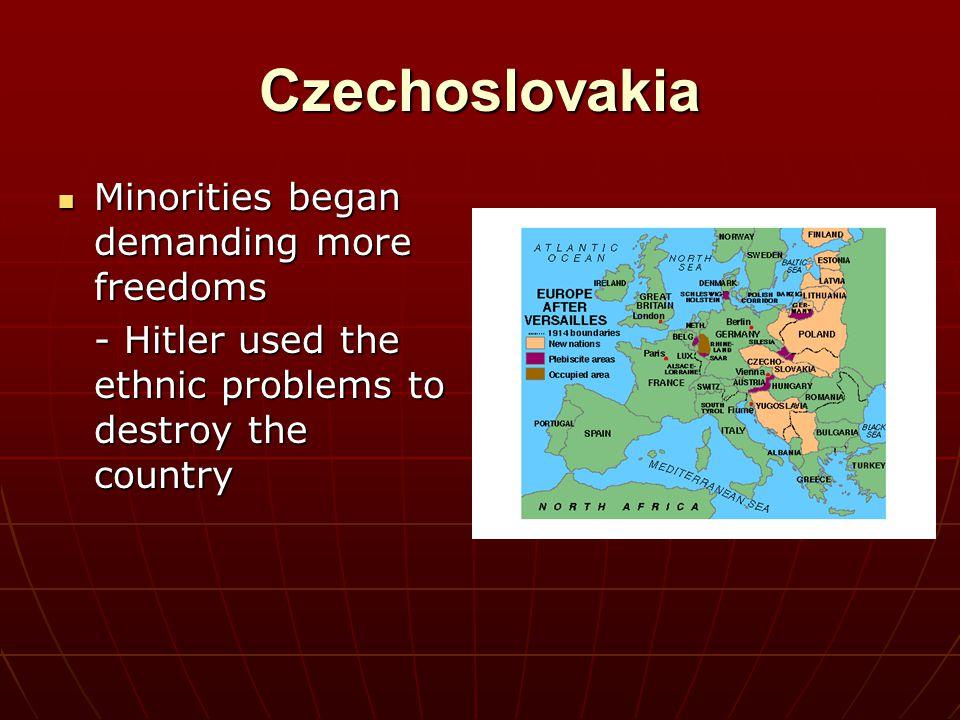 Czechoslovakia Minorities began demanding more freedoms