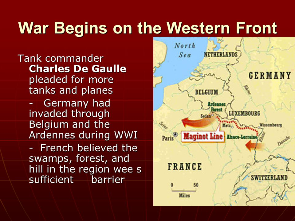 War Begins on the Western Front