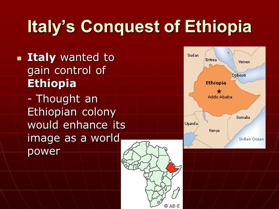 Italy's Conquest of Ethiopia