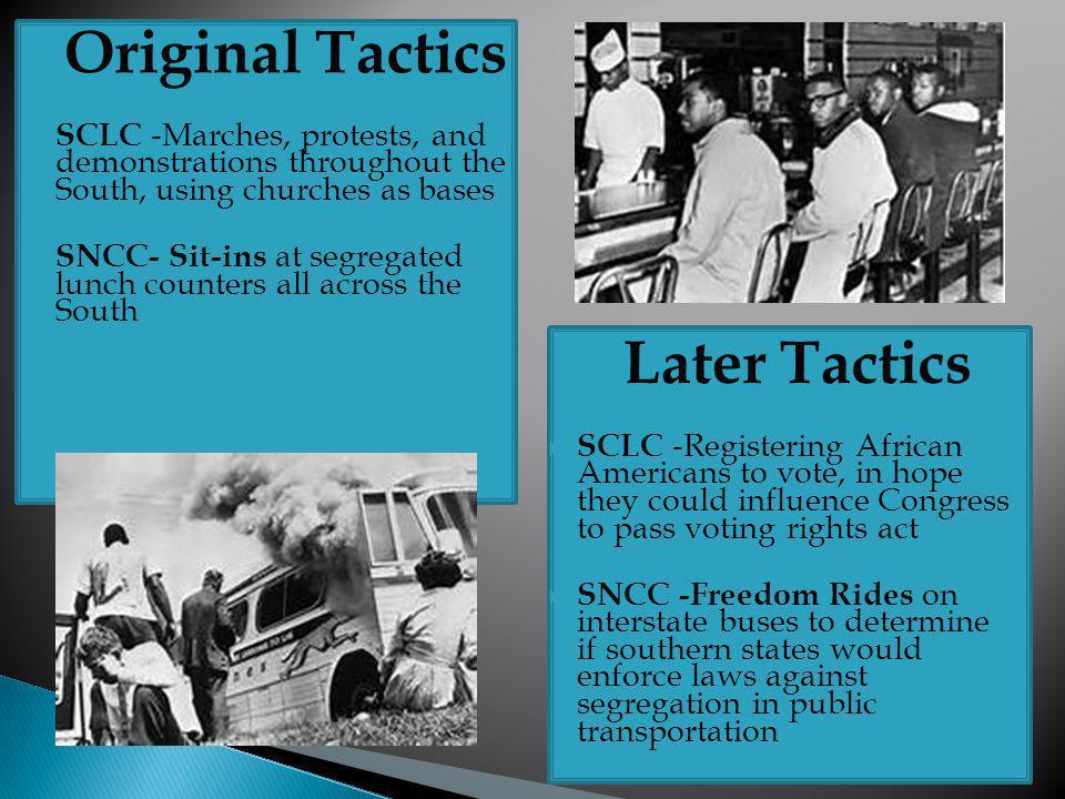Original Tactics Later Tactics