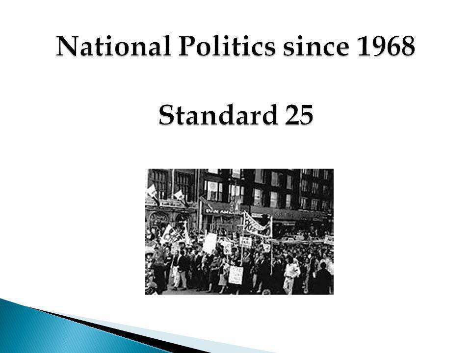 National Politics since 1968 Standard 25