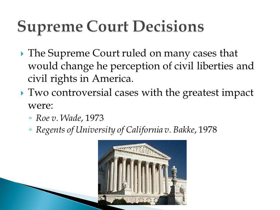 the supreme courts decisions that greatly impacted the reproduction rights of women Limits on reproductive rights and decisions by women were mostly covered by wade decision, the supreme court held that in women's reproductive rights and the.