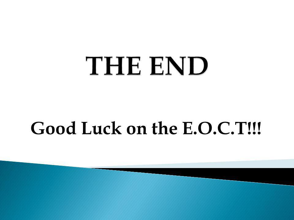 THE END Good Luck on the E.O.C.T!!!