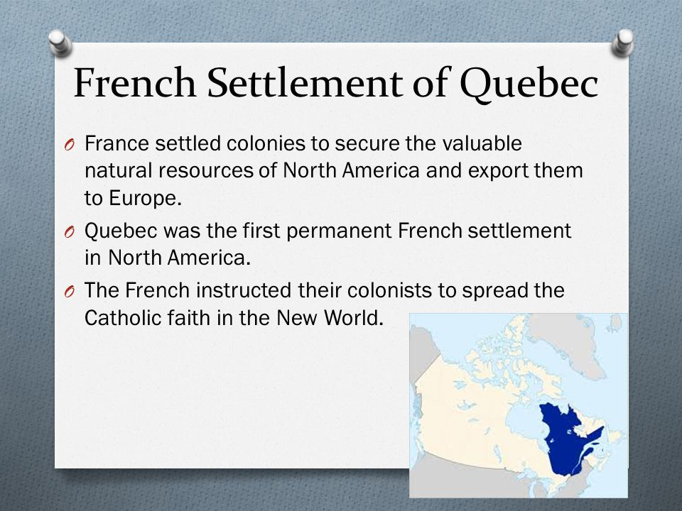 French Settlement of Quebec