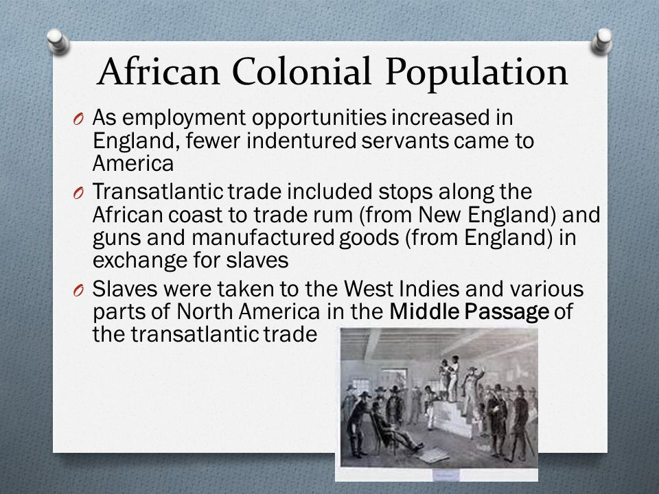 African Colonial Population