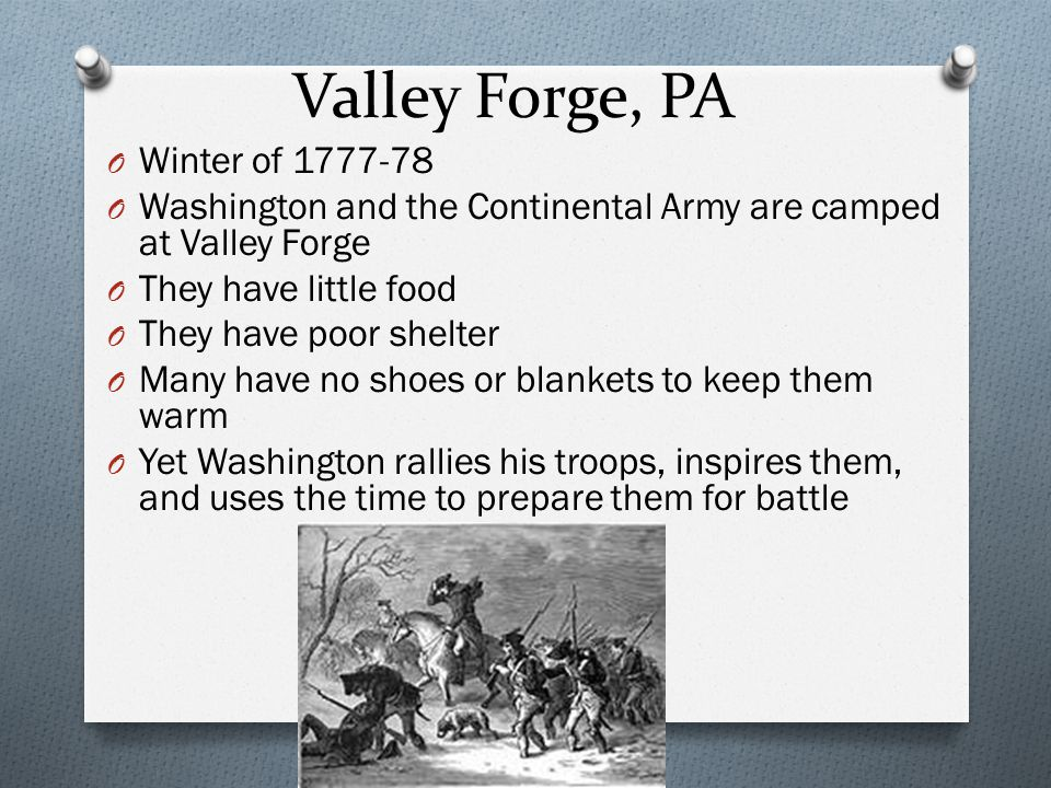 Valley Forge, PA Winter of 1777-78