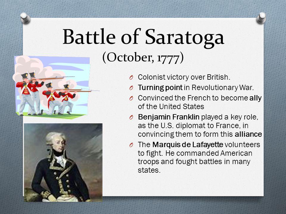 Battle of Saratoga (October, 1777)