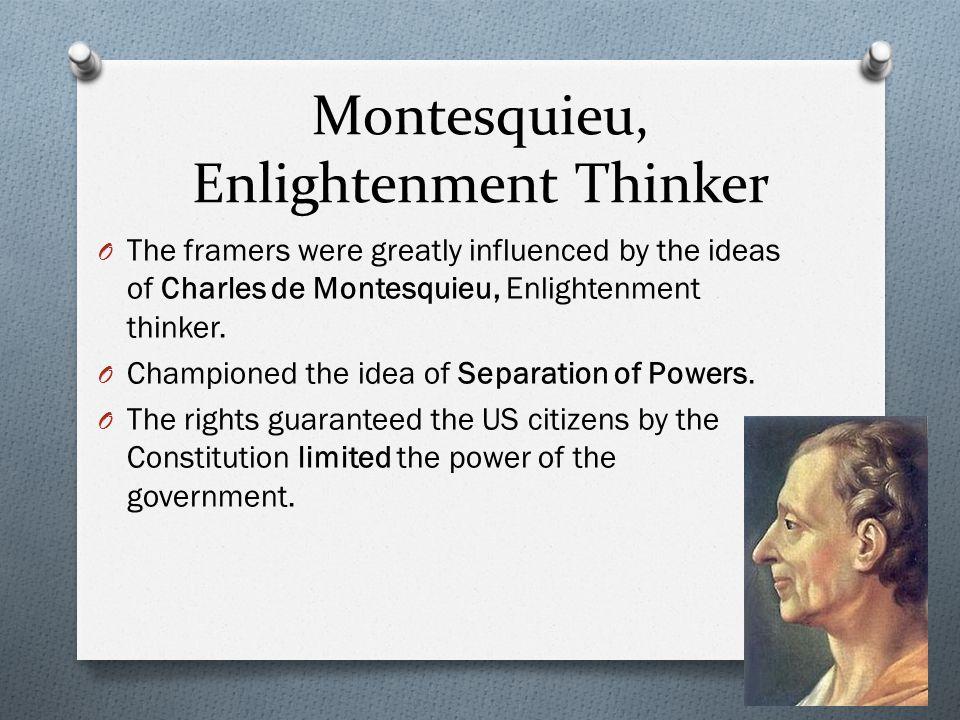 Montesquieu, Enlightenment Thinker