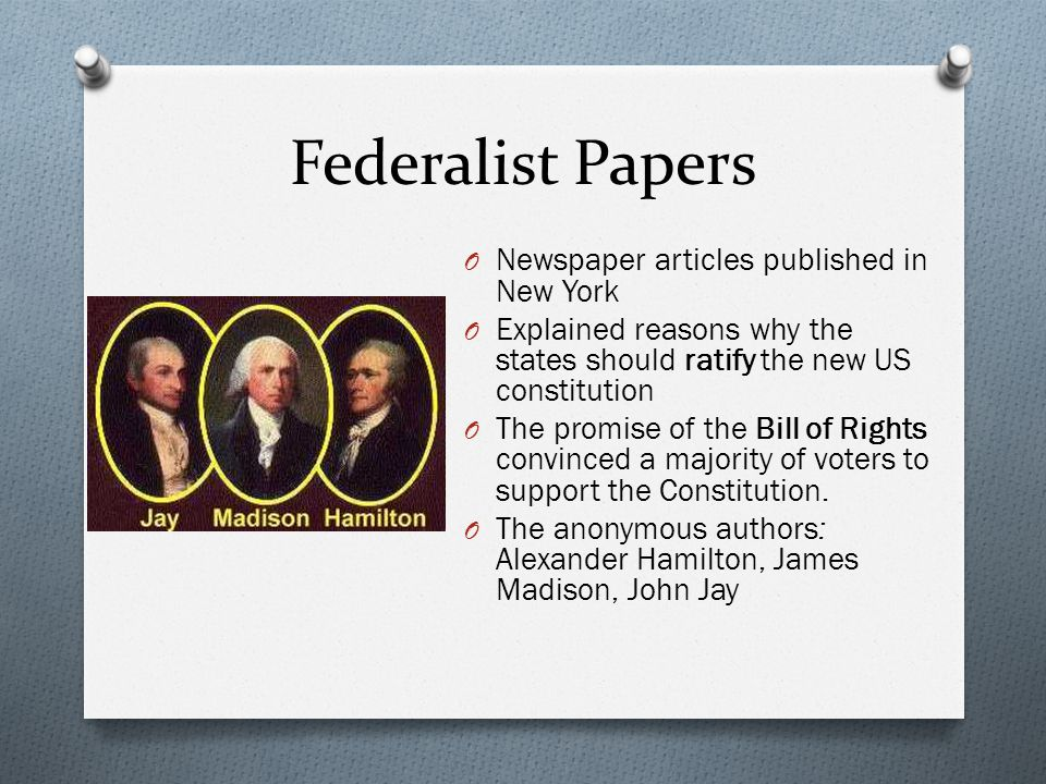 Federalist Papers Newspaper articles published in New York