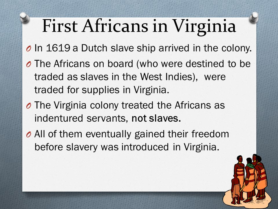 First Africans in Virginia