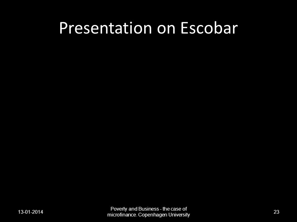 Presentation on Escobar