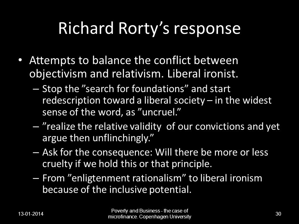 Richard Rorty's response