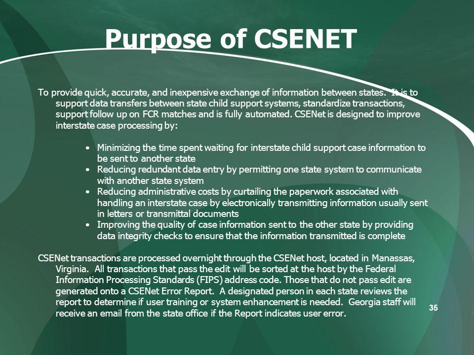 Purpose of CSENET