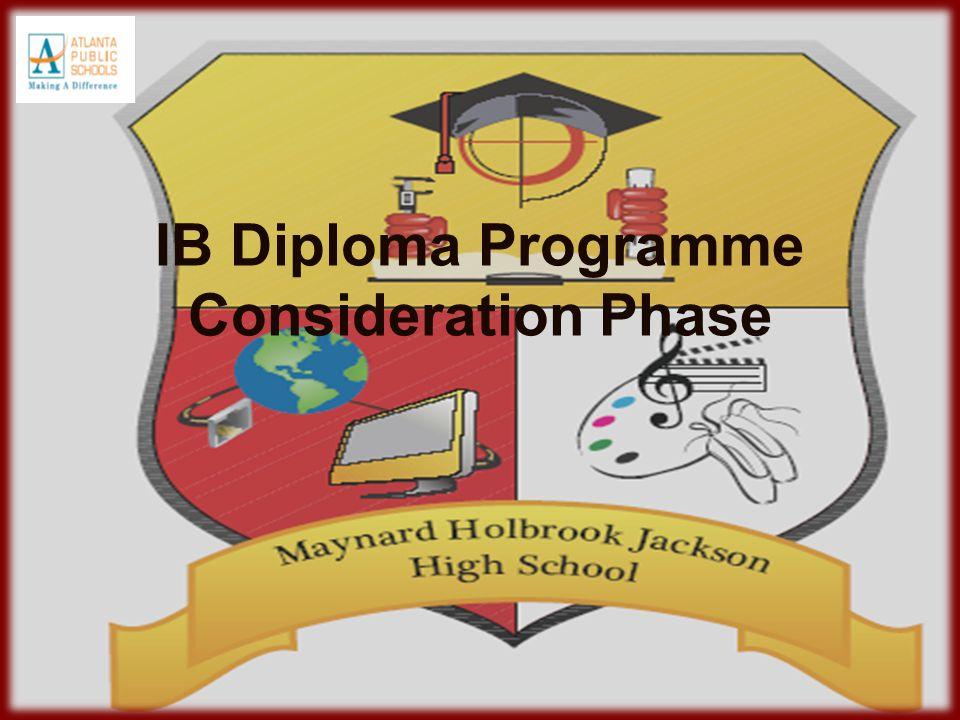 IB Diploma Programme Consideration Phase