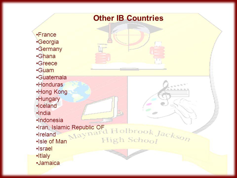 Other IB Countries France Georgia Germany Ghana Greece Guam Guatemala
