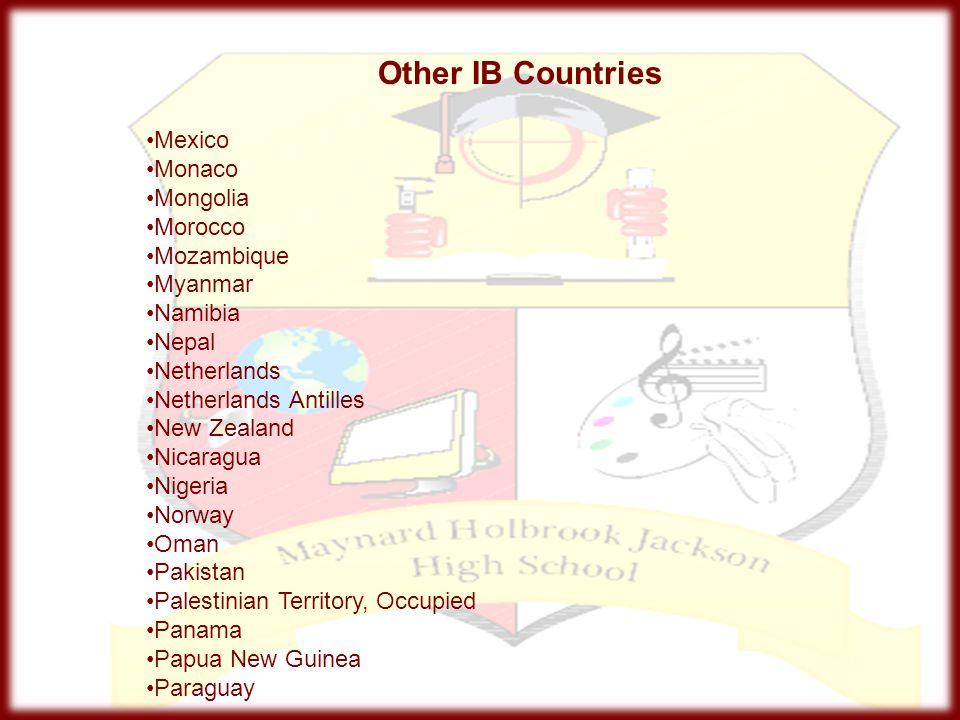 Other IB Countries Mexico Monaco Mongolia Morocco Mozambique Myanmar
