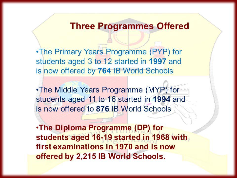 Three Programmes Offered