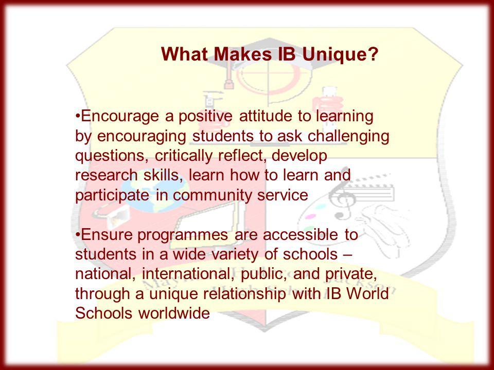 What Makes IB Unique