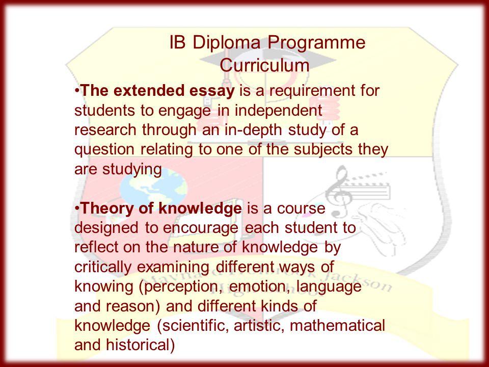 IB Diploma Programme Curriculum