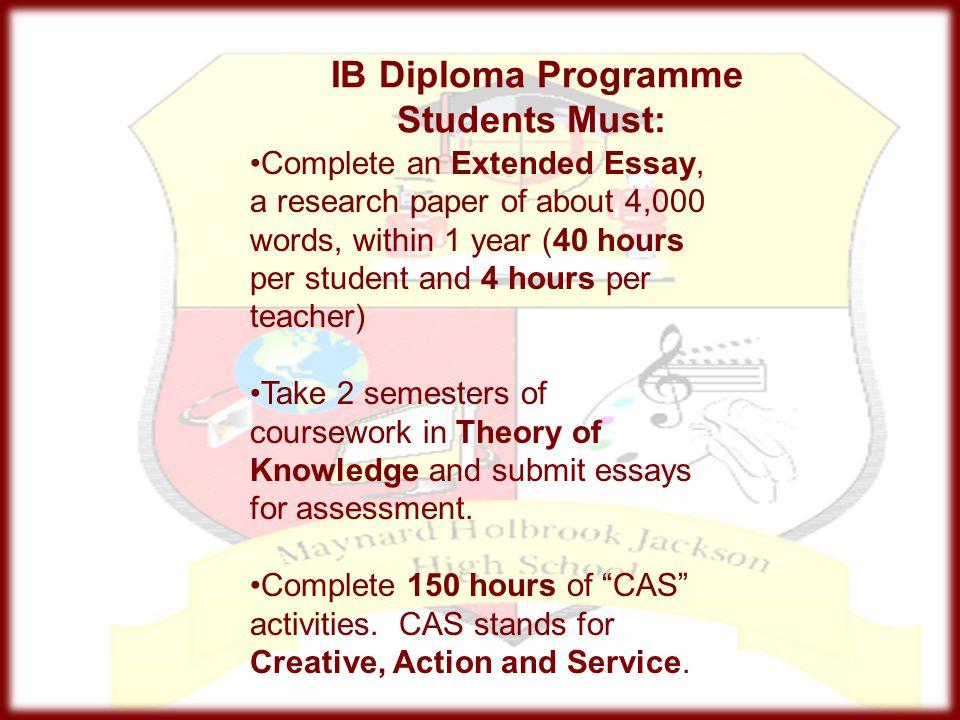 IB Diploma Programme Students Must: