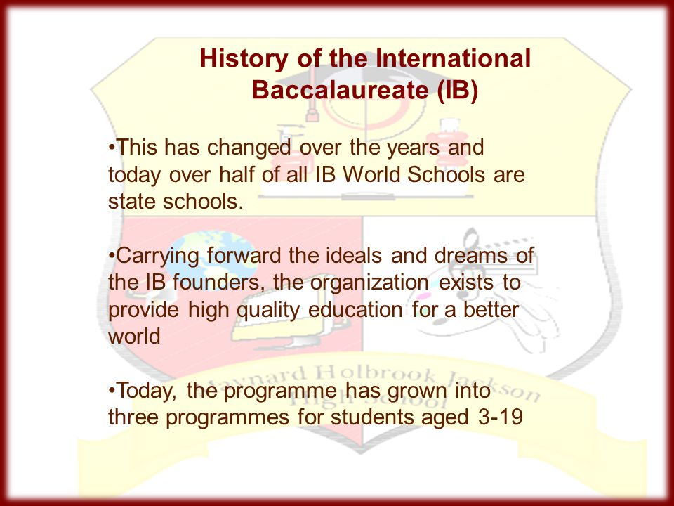 History of the International Baccalaureate (IB)