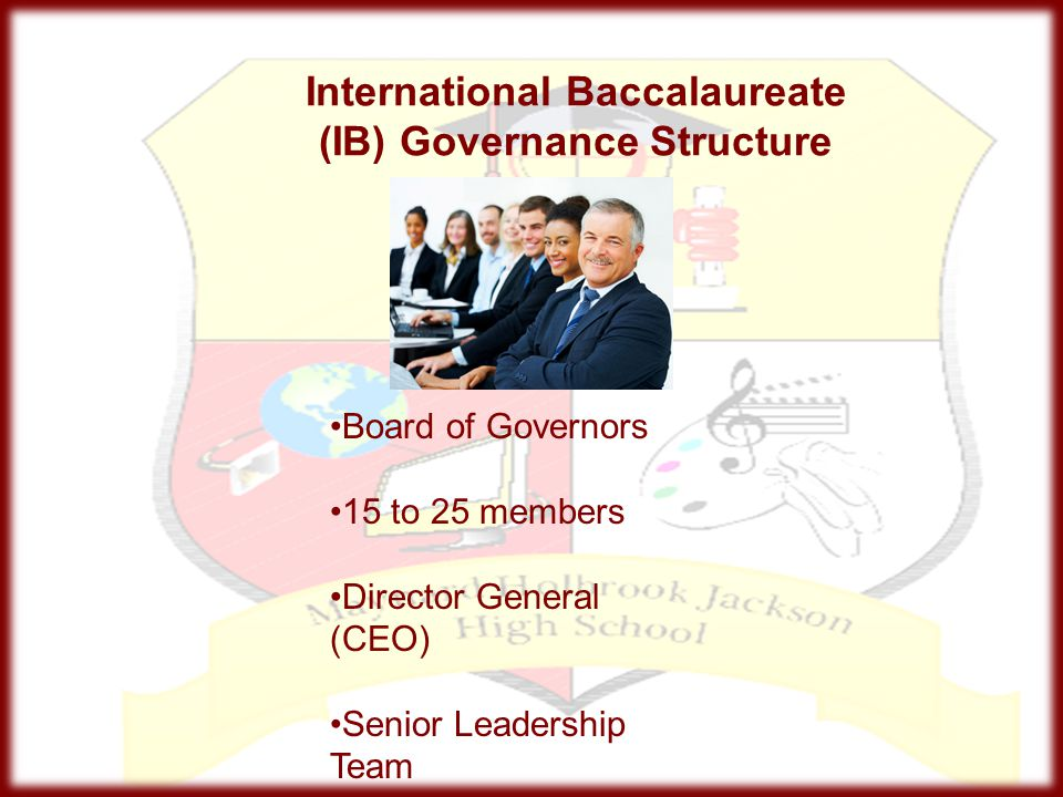 International Baccalaureate (IB) Governance Structure