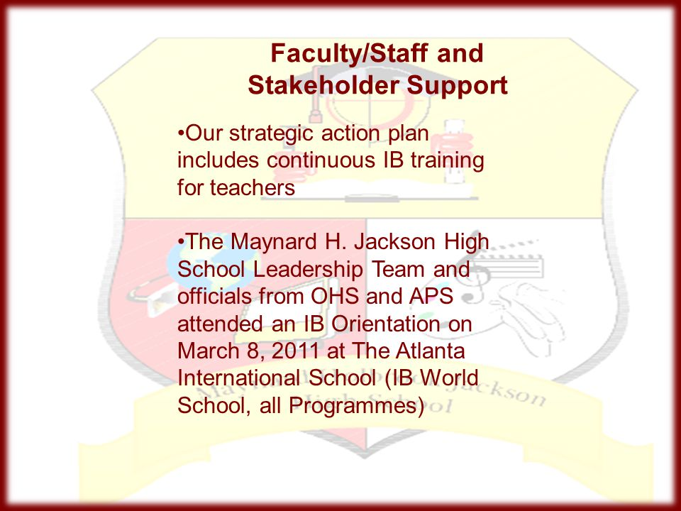Faculty/Staff and Stakeholder Support