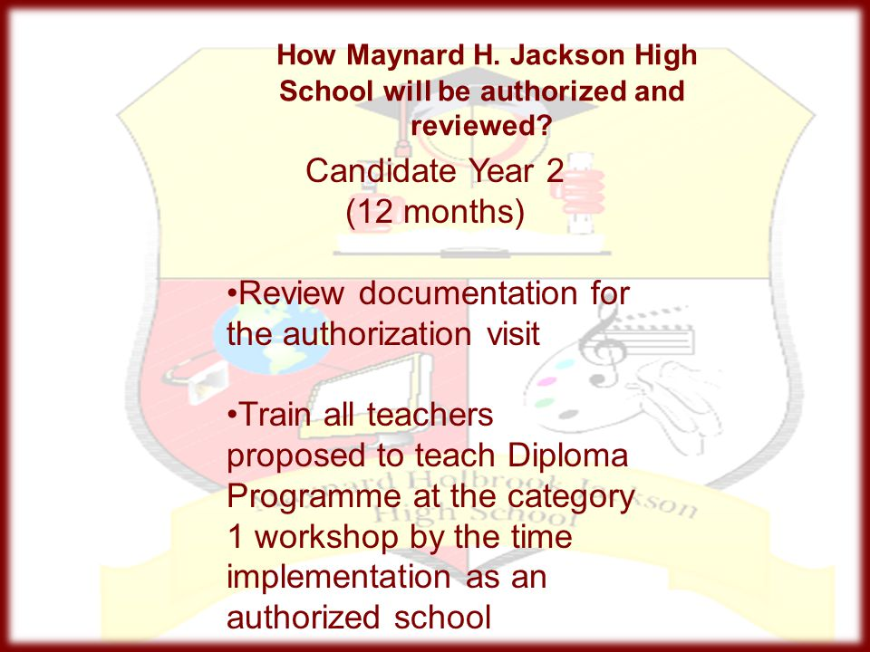 How Maynard H. Jackson High School will be authorized and reviewed