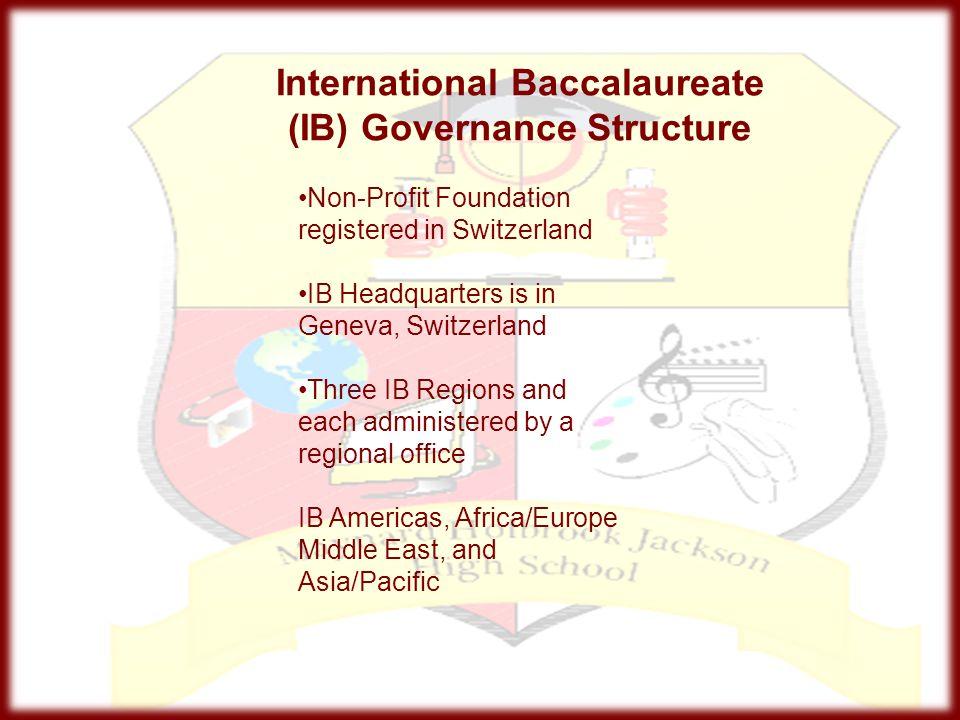 International Baccalaureate (IB) Governance Structure