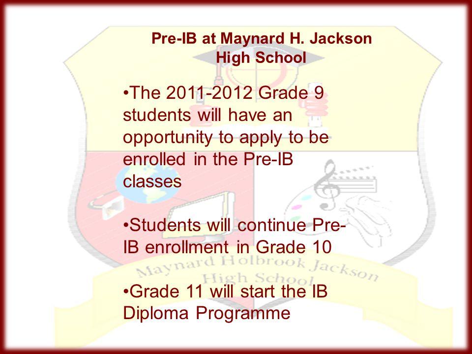 Pre-IB at Maynard H. Jackson High School