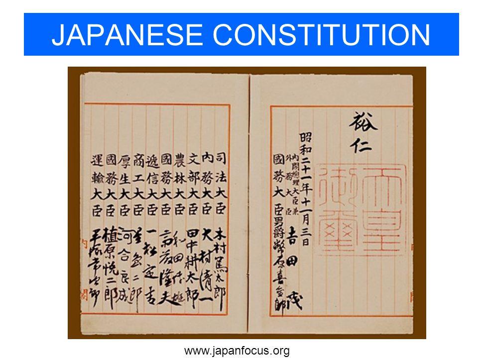 JAPANESE CONSTITUTION
