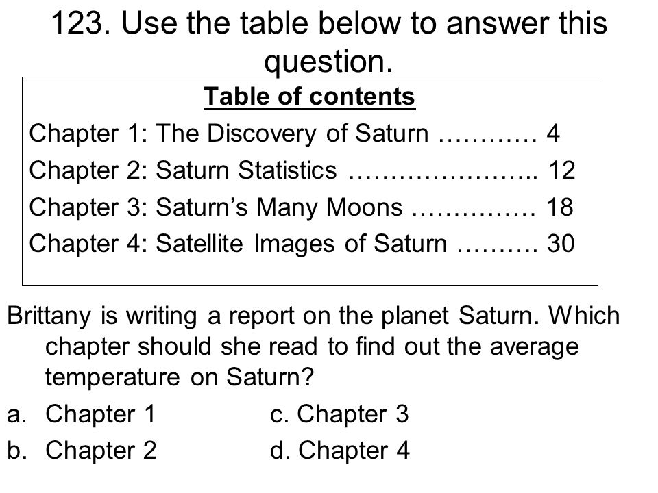 123. Use the table below to answer this question.