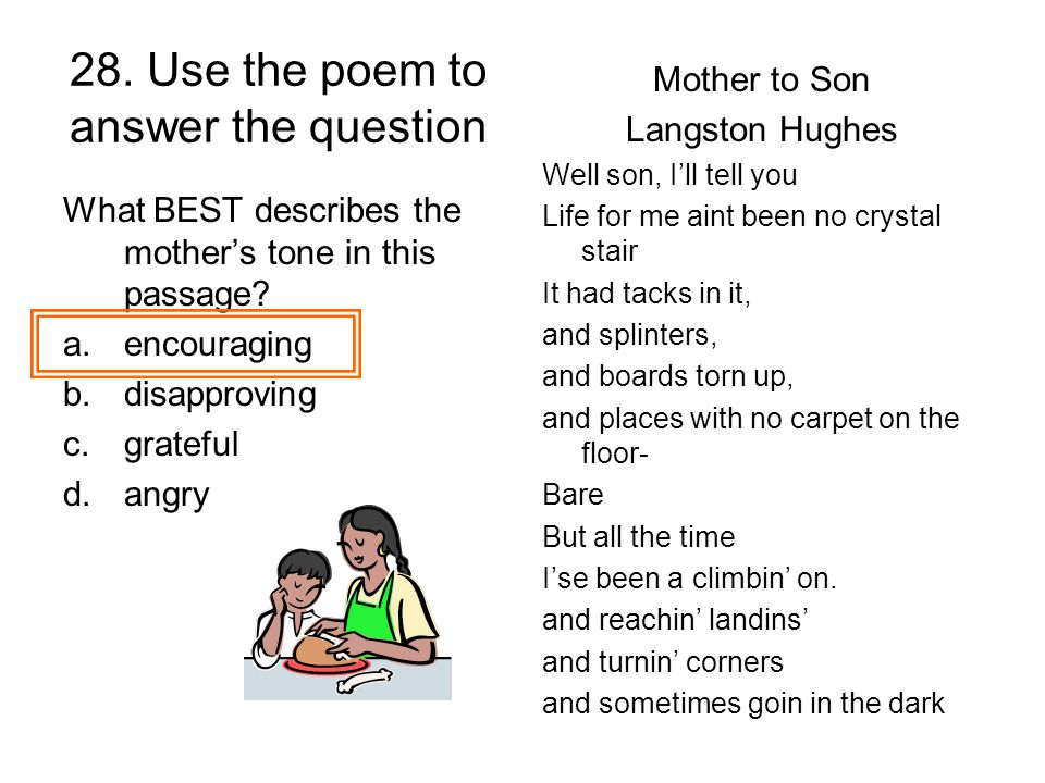 28. Use the poem to answer the question